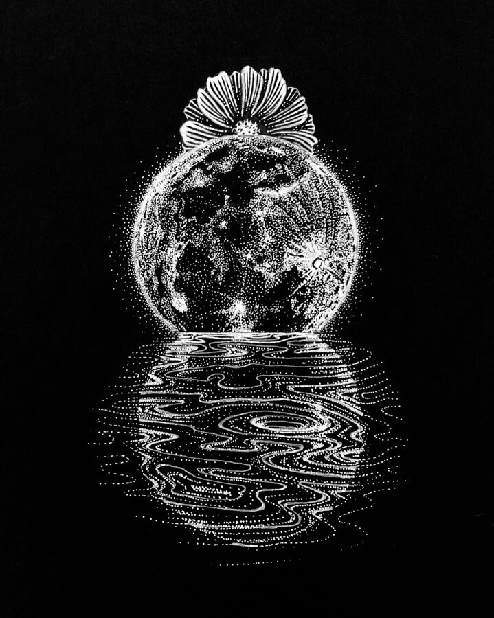 01-Stippling-Planet-Reflection-Hannes-Hesselbarth-www-designstack-co