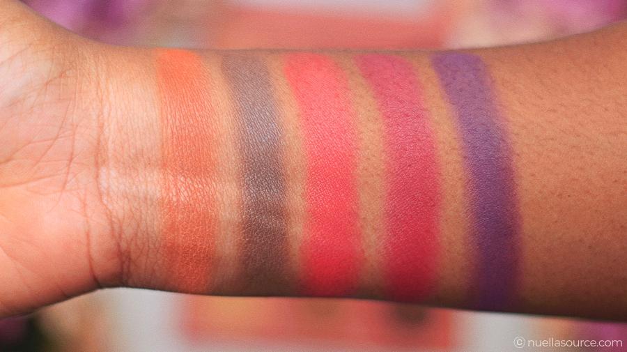 Palette BH Cosmetics Itsmyrayeraye eyeshadow swatches