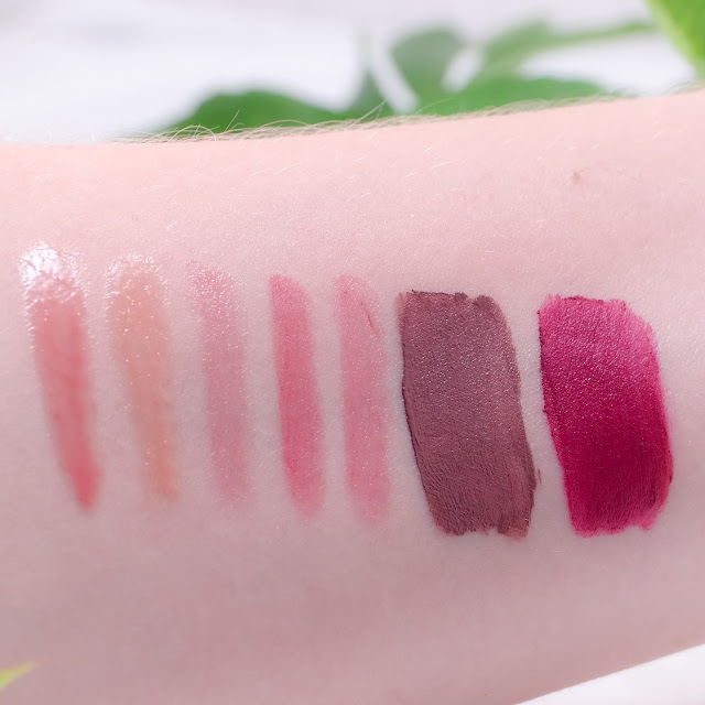Exposed, Envy, Glitzy, Moody, Rave, Hangry Swatches