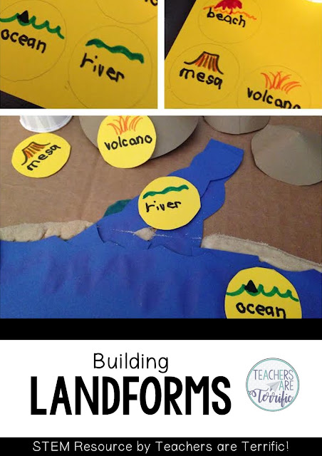 STEM Challenge: Create a model showing various landforms. Label each and be sure they logically can be placed side by side.