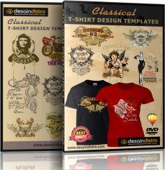 Jual 2000 Template Desain Kaos Distro Format CDR