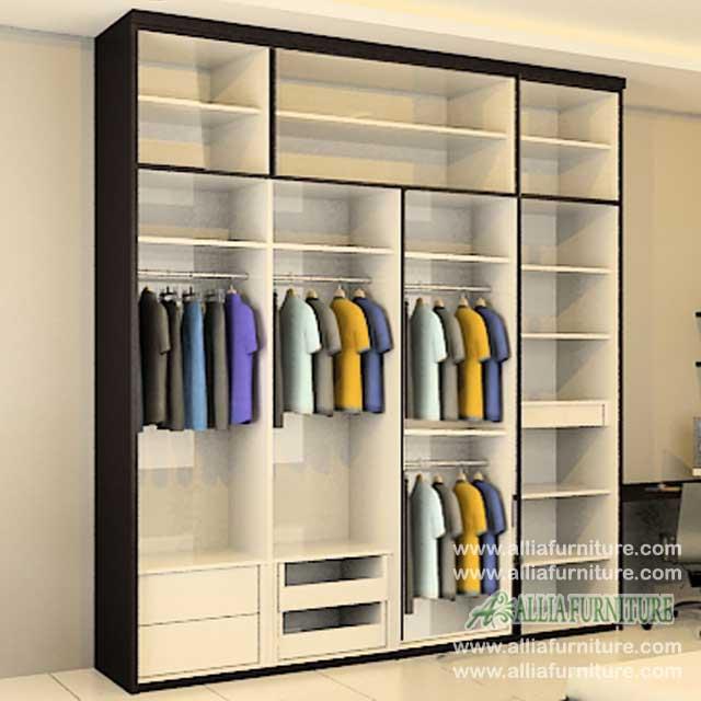 lemari baju minimalis unit 4 pintu 4s
