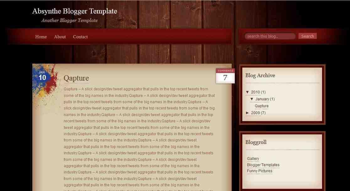 Absynthe - Simple Blogger Template - Edu Blog