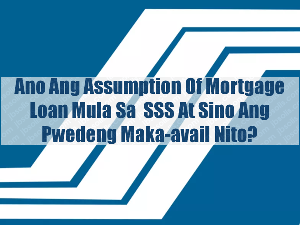 "Social Security System (SSS) has a lending program  called Assumption of Mortgage which  allows a member with good standing to assume the updated principal balance of an existing SSS housing loan.  Qualified Borrowers —The borrower must be a member of SSS who has at least 36 months contribution and 24 continuous contributions in a period prior to application —Is not more than 60 years old at the time of application. —He was not previously granted an SSS housing loan —He has not been granted final SSS benefits —Borrower and spouse is current in the payment of their other SSS loan(s), if any. Sponsored Links  How to Apply The member may file the application at the nearest SSS cluster branch or at the Housing and Business Loans Department, 5/F, SSS Bldg., East Avenue, Diliman, Quezon City.  The following documents should be submitted upon filing of application:  —Original copy of Mortgagor's Application for Housing Loan with 1"" x 1"" ID pictures of Principal Applicant and Spouse;  —Original and photocopy of latest Income Tax Return together with Form W-2 and Confirmation Receipt. (Not applicable for overseas worker);  —SS Form E-1 (and E-4, if any). If self-employed, SS Form RS-1; Employer Membership Certificate and Business License;  —Certification of Employment, Compensation and SSS Premium Contributions duly signed by the employer's SSS authorized signatory. If overseas Filipino worker (OFW), Certification and Contract of Employment (duly authenticated by the Philippine Consulate);  —Deed of Sale with Assumption of Mortgage and latest Statement of Account from Investment Accounting Department (IAD), 9th floor;  —If existing housing loan with the SSS is a Joint Applicant, written conformity of the other Joint Applicant; and  —Affidavit of undertaking to continue paying monthly SSS Premium Contributions for the duration of loan for Voluntary and Self-employed members only.  Note: — Present original and submit one (1) photocopy of required documents for authentication purposes   — Applicant and spouse must be up-to-date in the payment of all existing loan accounts with SSS subject to verification by the SSS   — SSS reserves the right to require additional documents if deemed necessary — Application Fee – ½ of 1% of loan amount or P500.00, whichever is higher but not to exceed P3,000.00, to be paid prior to journalization of the account.   Loanable Amount The maximum loanable amount is P2,000,000 but should not exceed the updated loan balance of the account assumed.  Appraised value of collateral of at least 70% but not to exceed 90%;  Borrower's capacity to pay; and Actual need of the borrower based on the contract to sell/scope of work and bill of materials evaluated by the SSS.   Interest Rate  Up to P450,000.00 - 8% p.a. Over P450,000.00 up to P1,000,000.00 - 9% p.a. Over P1,000,000.00 up to P1,500,000.00 - 10% p.a. Over P1,500,000.00 up to P2,000,000.00 - 11% p.a.    Term of the Loan The amortization period shall be in multiples of five (5), but shall in no case exceed: The remaining term of the old mortgage; The economic life of the house; and The difference between the age of the applicant and 65.  Allowable Collateral/s The collateral shall be the house and lot which is the subject of the mortgage to be assumed.  Insurance The housing loan account should be covered by a Mortgage Redemption Insurance and Fire Insurance.  The insurance premiums shall be shouldered by the borrower.    Loan Release The amount assumed is transferred to the mortgagor. A new account number will be assigned to be used in paying the monthly amortization of the loan.   Manner of Payments The regular monthly amortization payment shall start within the first ten (10) days of the succeeding month after the account has been journalized. Prior to journalization, the applicant shall continue paying the monthly amortization for the account of the original mortgagor.  Default in Payment of Amortization Any unpaid loan amortization shall bear a penalty of 1.5% for every month of delay. If the mortgagor fails to pay at least six (6) monthly amortizations, the SSS may immediately foreclose the mortgaged property.  For more information contact the SSS Housing and Business Loans Department in Quezon City with telephone number 920-64-01 local 5121 to 5127 or at member_relations@sss.gov.ph or to the SSS office nearest you.  Advertisements  Read More:   Things You Need to Know About Senior Citizen's Benefits   Body Of Household Worker Found Inside A Freezer In Kuwait; Confirmed Filipina  Senate Approves Bill For Free OFW Handbook    Overseas Filipinos In Qatar Losing Jobs Amid Diplomatic Crisis—DOLE How To Get Philippine International Driving Permit (PIDP)    DFA To Temporarily Suspend One-Day Processing For Authentication Of Documents (Red Ribbon)    SSS Monthly Pension Calculator Based On Monthly Donation    What You Need to Know For A Successful Housing Loan Application    What is Certificate of Good Conduct Which is Required By Employers In the UAE and HOW To Get It?    OWWA Programs And Benefits, Other Concerns Explained By DA Arnel Ignacio And Admin Hans Cacdac     SUBSCRIBE TO OUR YOUTUBE CHANNEL   ©2018 THOUGHTSKOTO  www.jbsolis.com   SEARCH JBSOLIS, TYPE KEYWORDS and TITLE OF ARTICLE at the box below"