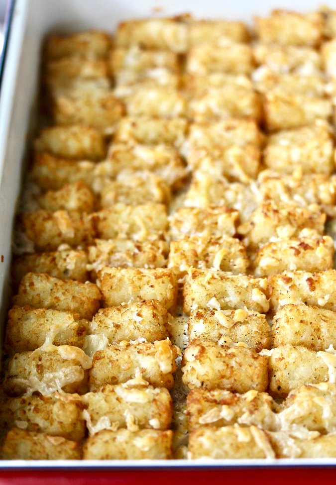 Tater Tot topped Cowboy Casserole