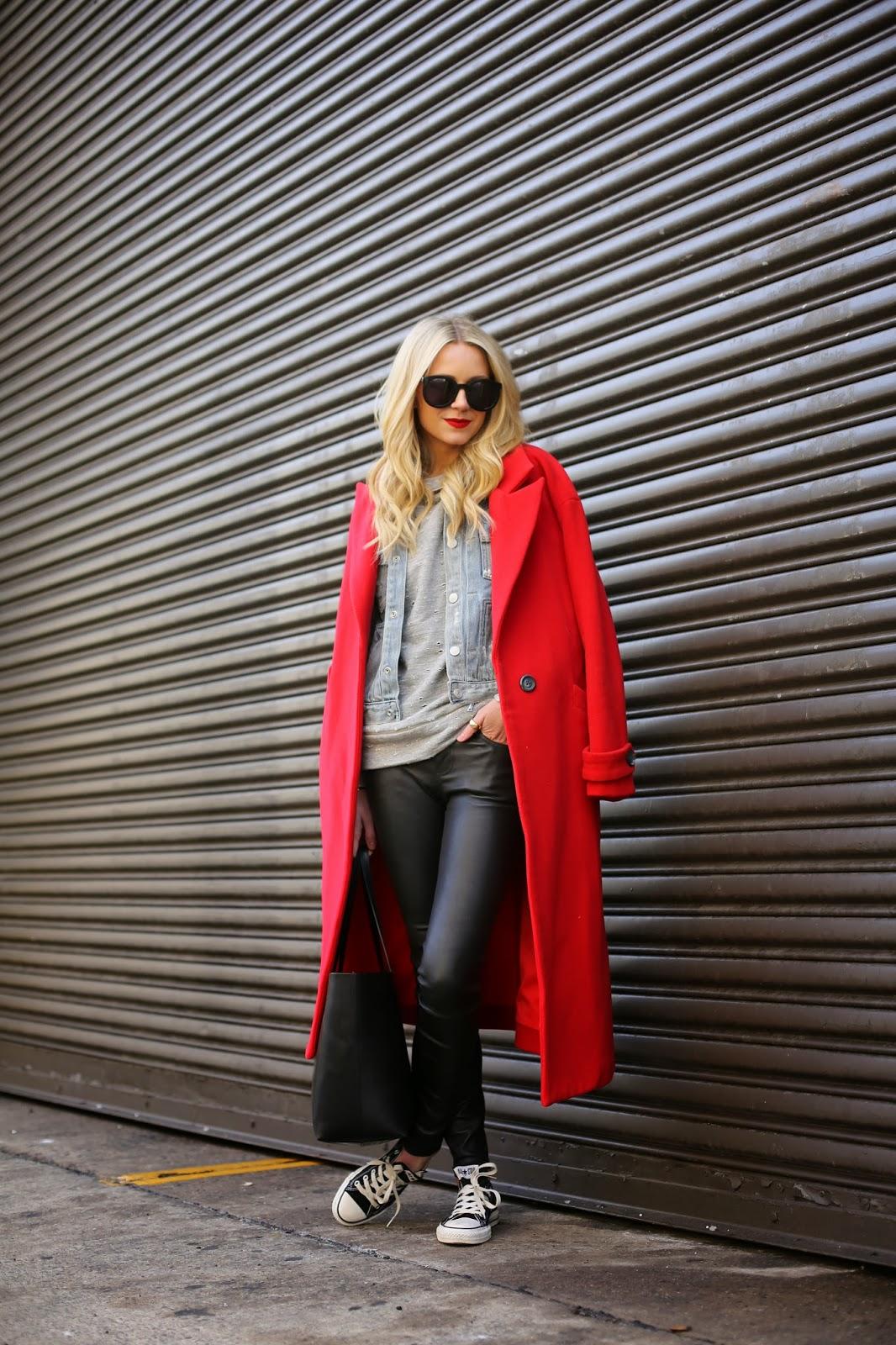 lady wearing long calf length coat