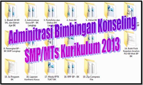 Adminitrasi Bimbingan Konseling SMP/MTs Kurikulum 2013