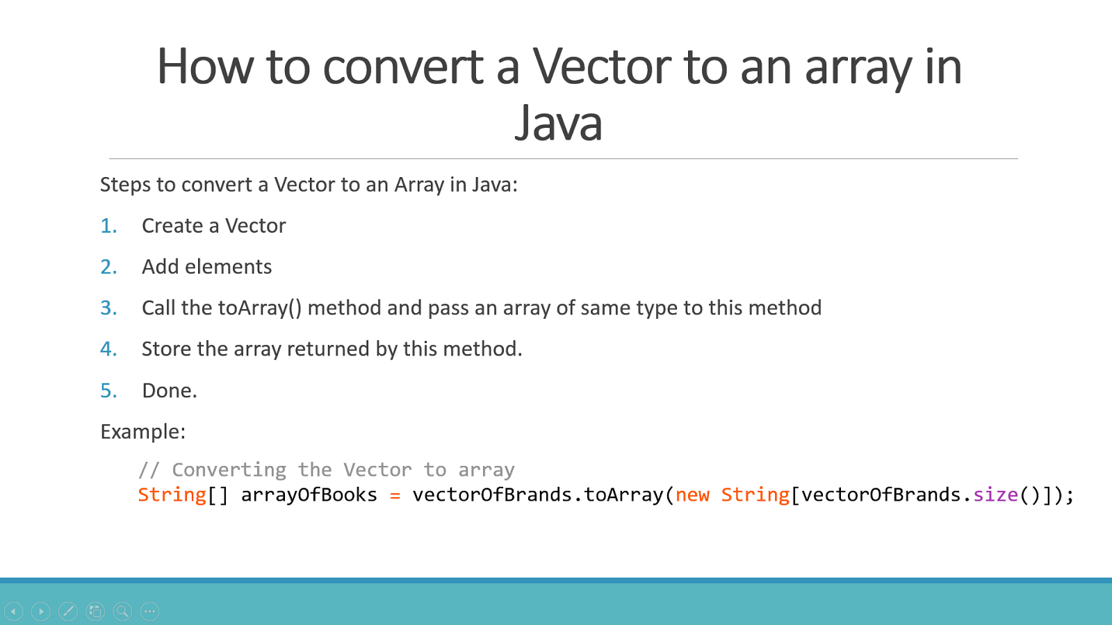 How To Convert Vector To Array In Java 2 Examples