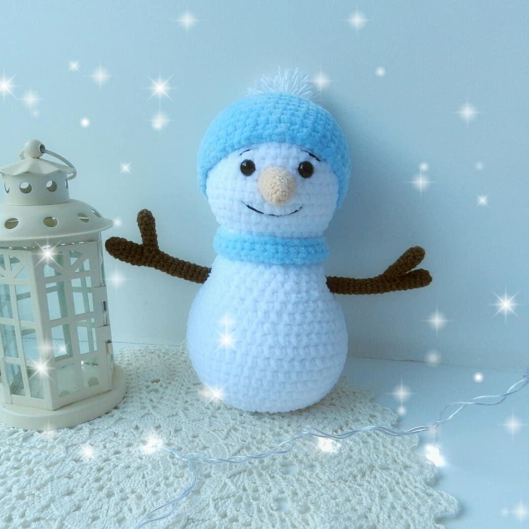 crochet snowman amigurumi amiguroom toys