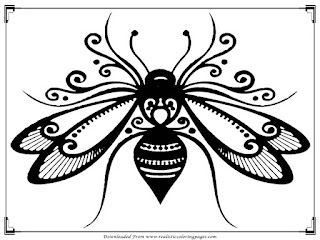 free printable bee adults coloring pictures
