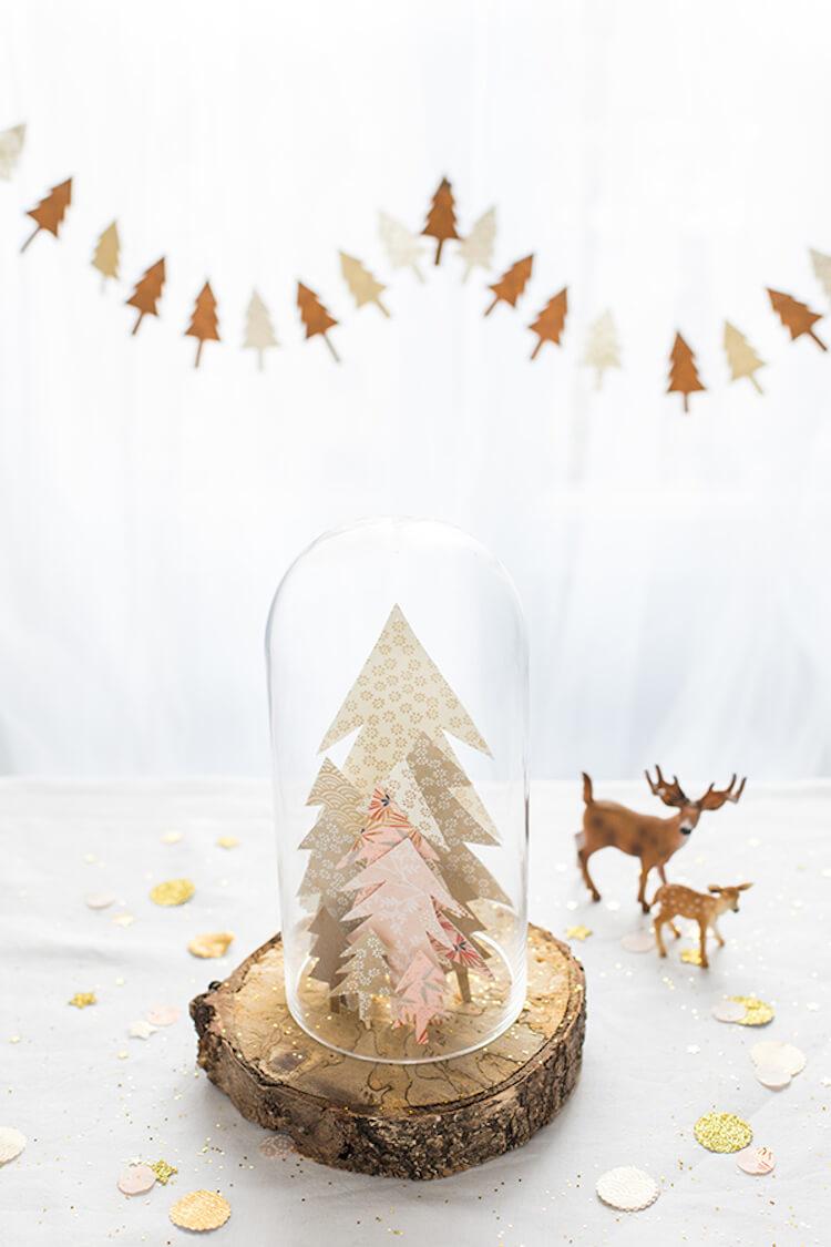 diy campanas de cristal navideña