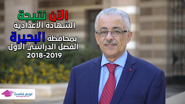 نتيجة الصف الثالث الاعدادي 2018-2019 محافظة البحيرة بالاسم ورقم الجلوس
