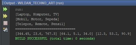 Contoh penggunaan for-each dengan Array 2 Dimensi Pada java
