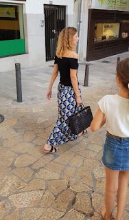 Falda larga verano