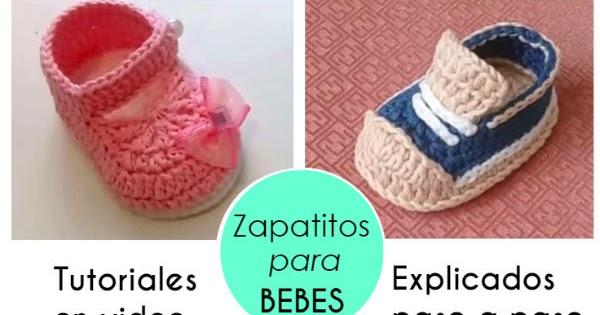 Tutoriales De Escarpines Para Bebés De 0 A 3 Meses Videos Crochet