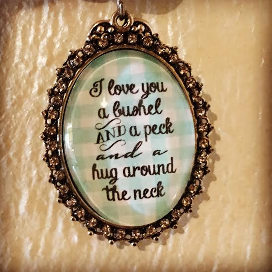 I Love You A Bushel And A Peck Necklace: Life Talks Over Coffee