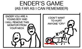 Meme de humor sobre El juego de Ender