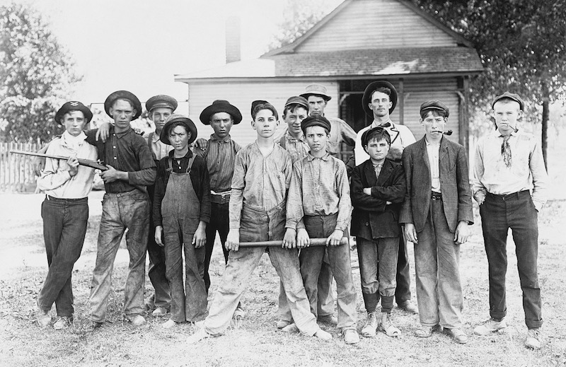 The Ball Team. Composed mainly of glass workers. Indiana. 1908 by Lewis Hine. Library of Congress 2