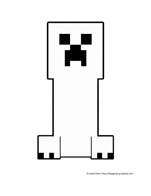 Minecraft Creeper Coloring Page Create Your Own Creeper Art Craft  Minecraft