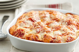 Pepperoni Pizza Casserole #dinnerrecipe #food
