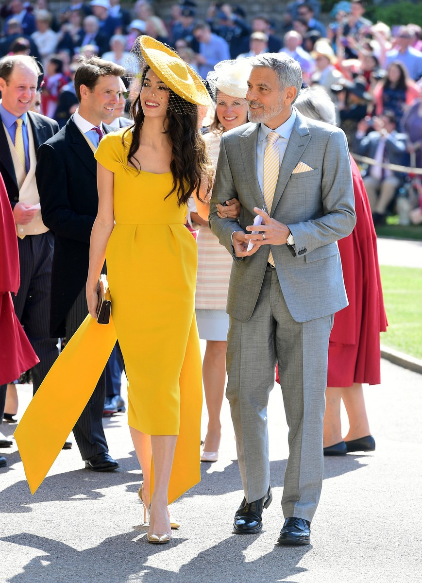 American actor George Clooney and his wife Amal, Human rights lawyer