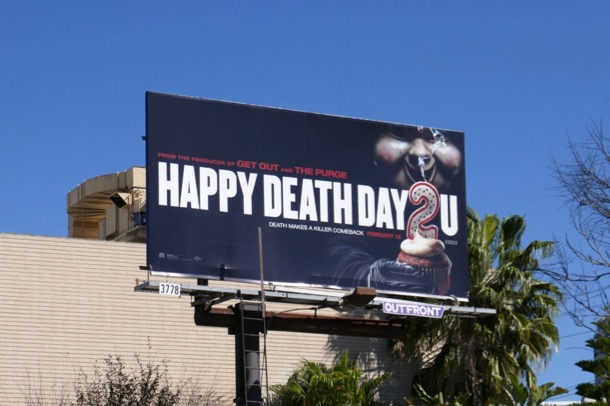 Happy Death Day 2U film billboard