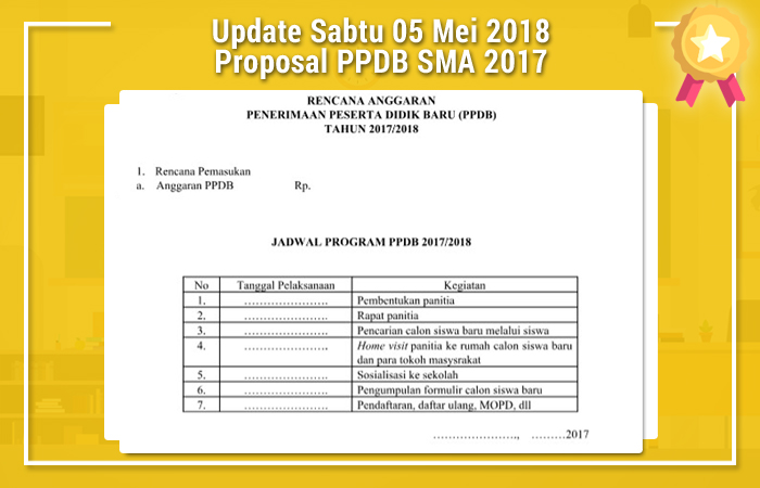 Update Sabtu 05 Mei 2018 Proposal PPDB SMA 2017