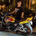 Valentine's: beki rider's date is his motorbike