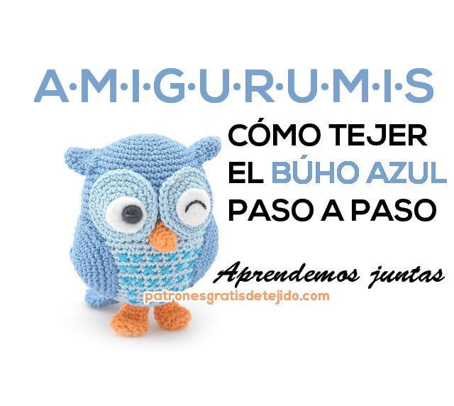 Cómo se hace el búho azul! paso a paso / Aprendemos Amigurumis ...