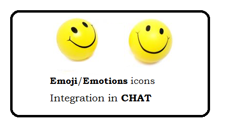 emoji/emotions icons integration in existing chat