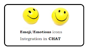 Emoji / Emotions icons integration in  CHAT
