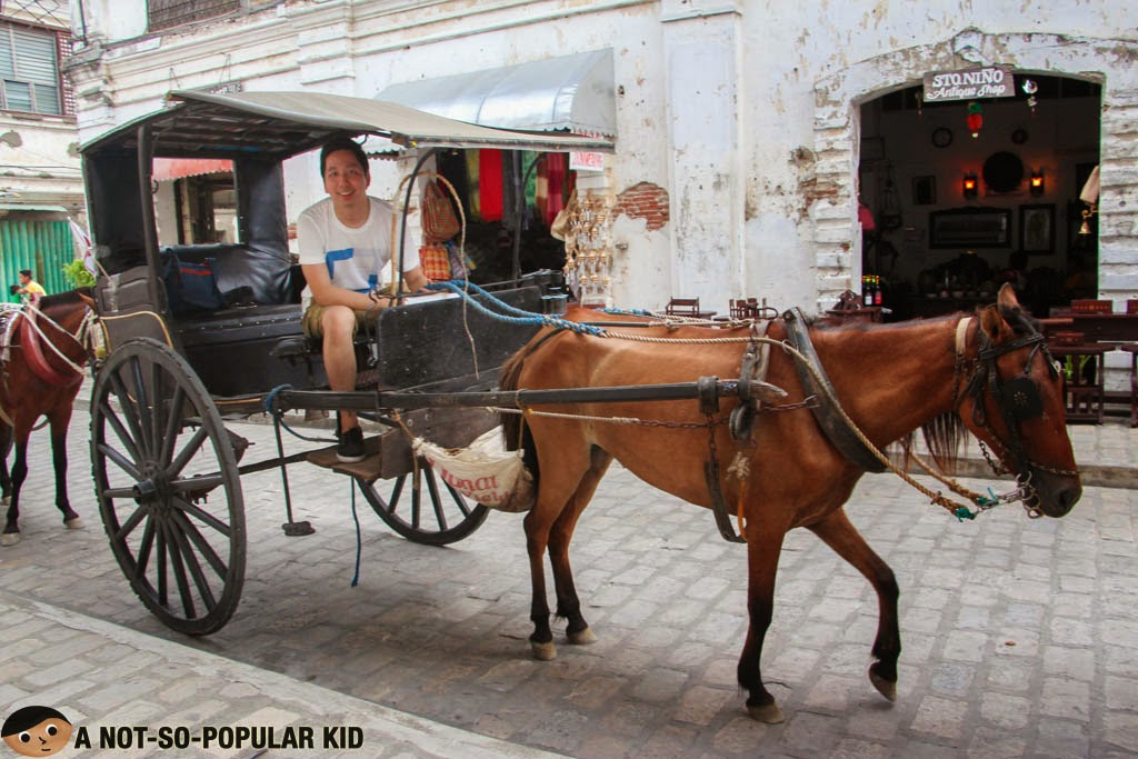 The fun Calesa ride in the city of Filipino-Spanish Heritage, Vigan