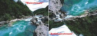 arti mainstream dan antimainstream