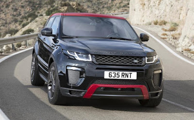 Range Rover Evoque Ember Edition on the road