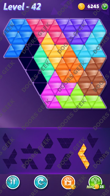 Block! Triangle Puzzle Challenger Level 42 Solution, Cheats, Walkthrough for Android, iPhone, iPad and iPod