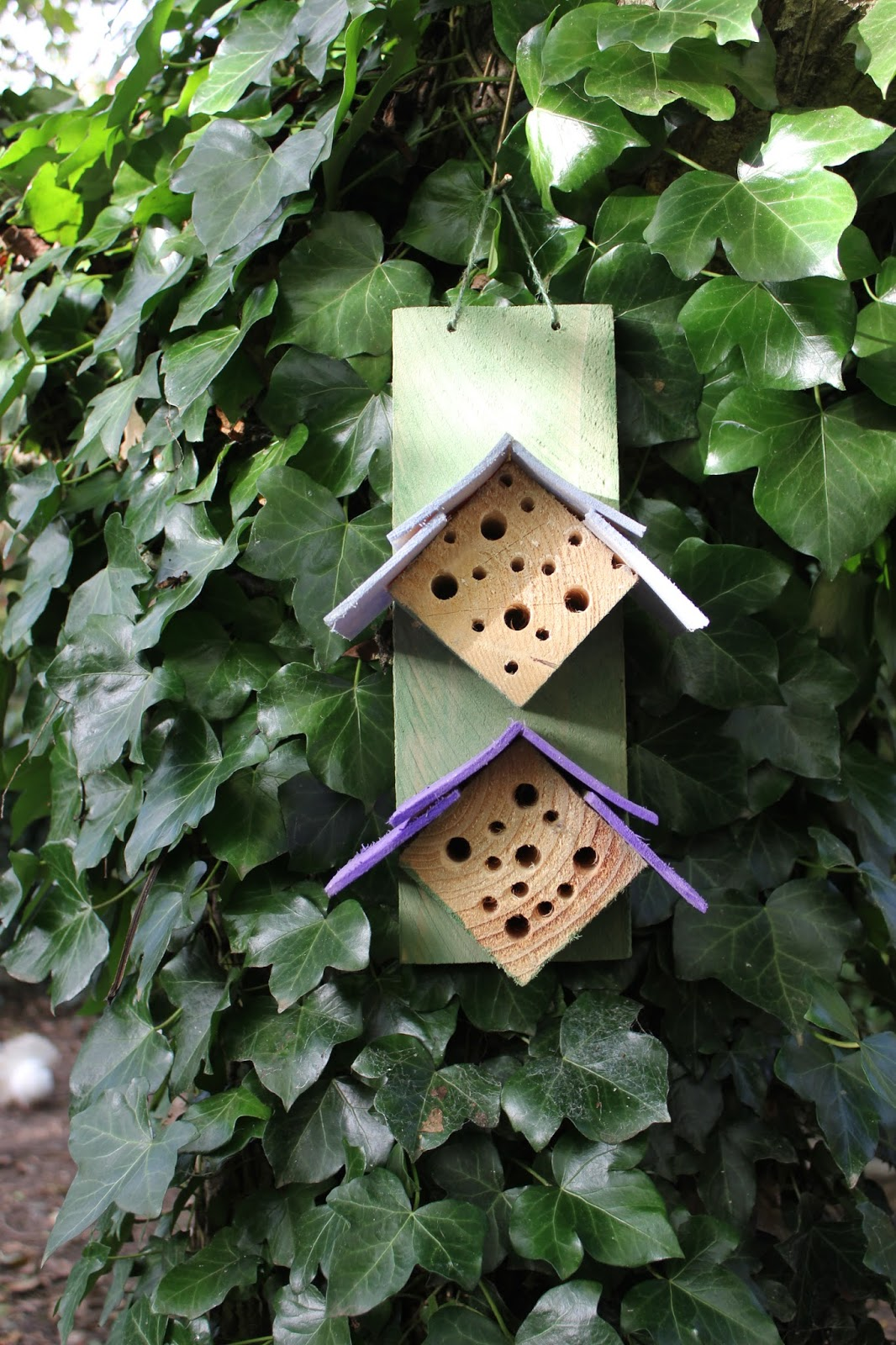 Mason bee house design in pallet wood