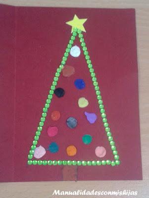 Pino navideño bolitas plastilina creatividad