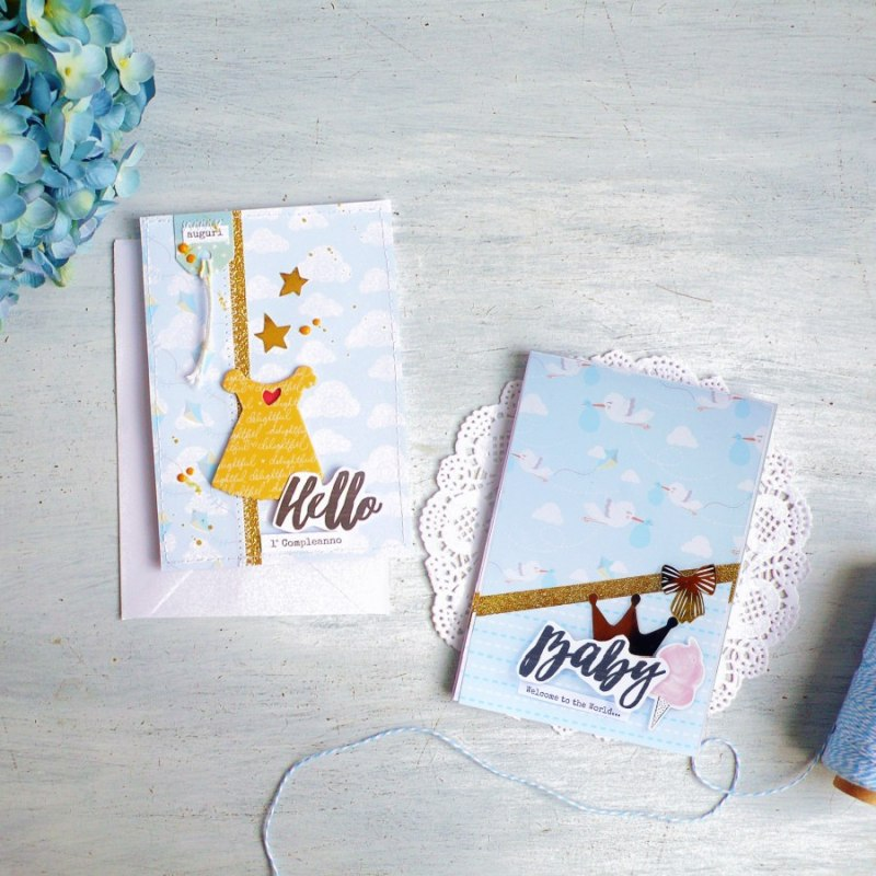Conosciuto Cardmaking] Biglietti per nascita e 1° compleanno – Flavir - Café JP58