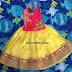 Lemon Yellow Pink Kids Lehenga