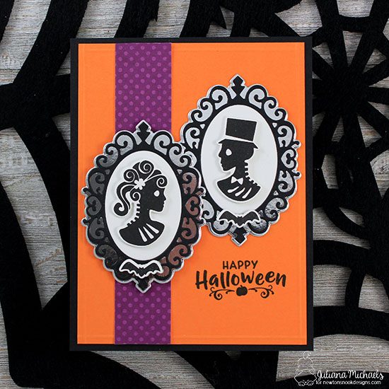 Halloween card by Juliana Michaels   Creepy Cameos Halloween Stamp Set and Cameo Frame Die Set by Newton's Nook Designs #newtonsnook #handmade