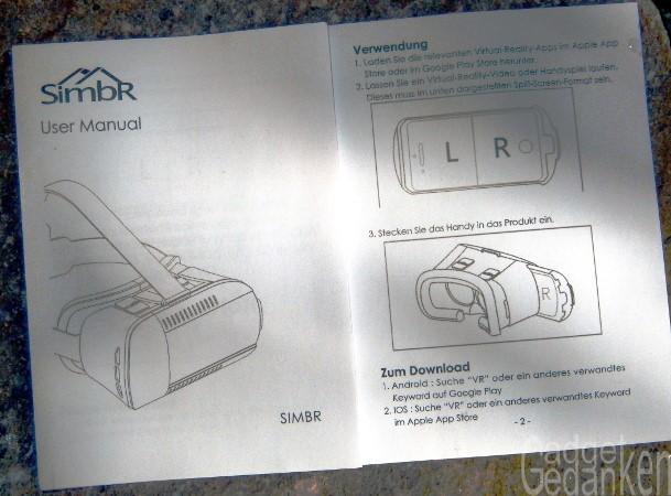 Brill Rasenmäher Bedienungsanleitung : gadgetgedanken das bessere cardboard simbr 3d vr brille ~ Watch28wear.com Haus und Dekorationen
