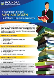 Lowongan Dosen Politeknik Negeri Indramayu (POLINDRA) – Juni 2016