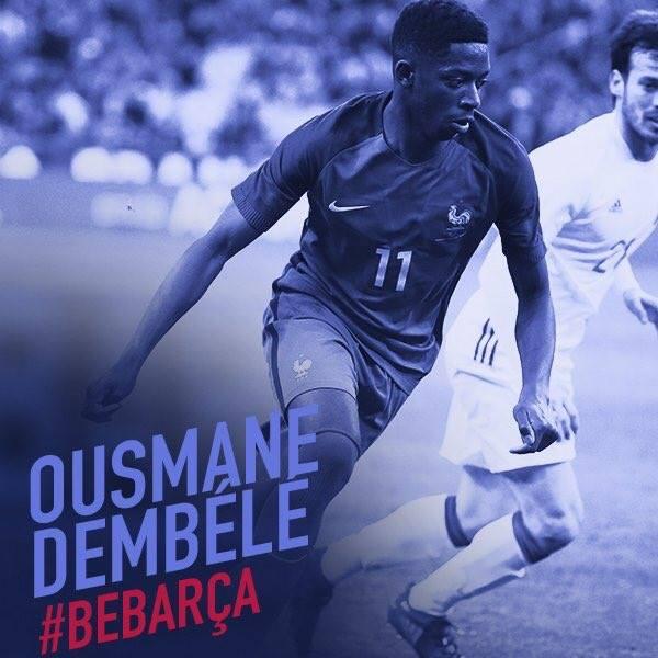 لحظة تقديم عثمان ديمبيلي لاعب برشلونة الجديد الظهور الاول لعثمان ديمبيلي بقميص برشلونة اليوم 27/8/2017