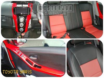 model jok mobil yaris merah
