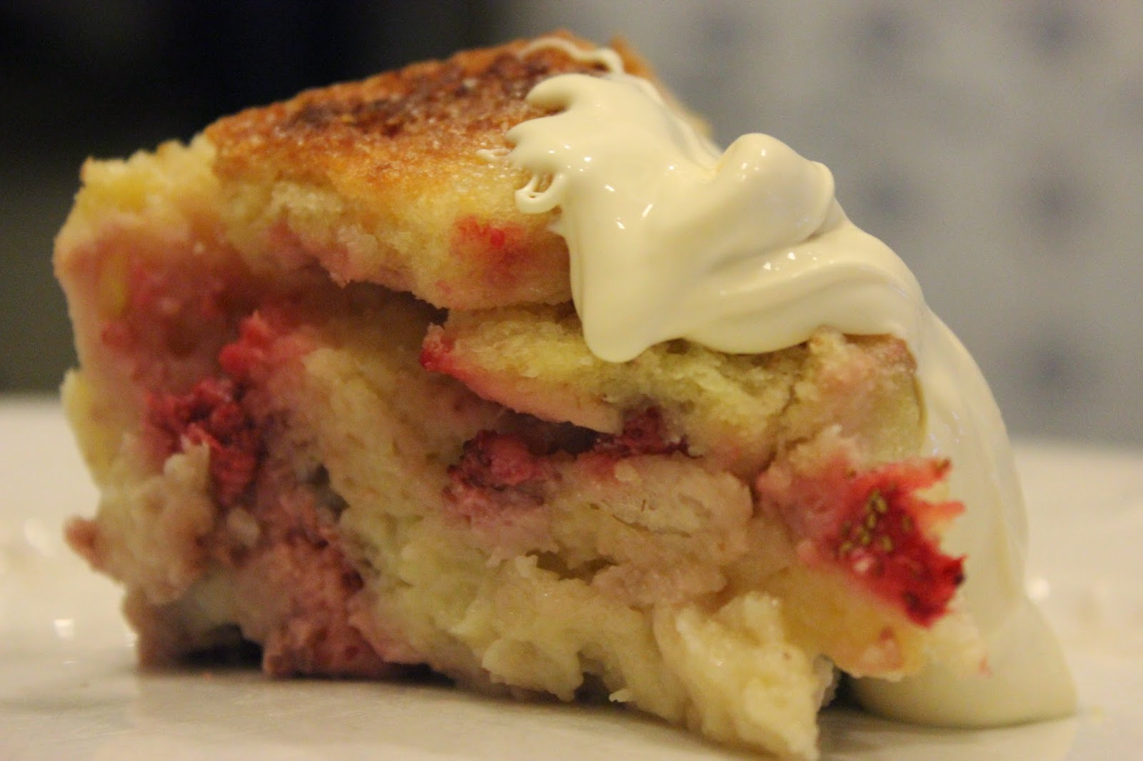Strawberry bread and butter pudding recipe