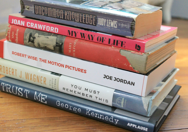 A Vintage Nerd, Old Hollywood Biographies, Classic Film Books