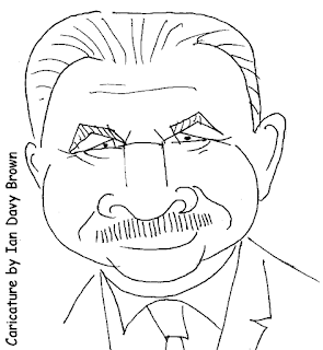 Mike Ditka caricature by Ian Davy Brown