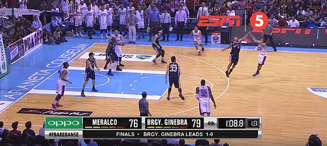 LA Tenorio Drains the CLUTCH Three in Game 2 (VIDEO)