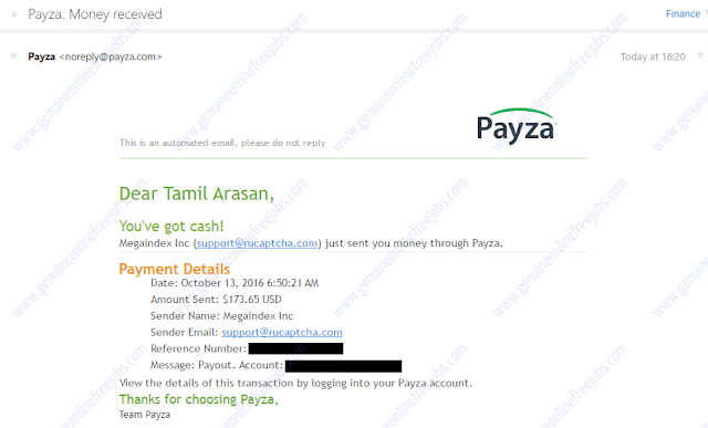 2Captcha payment proof mail