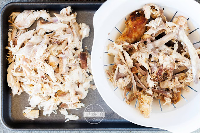 easily pull off remaining turkey from the whole turkey